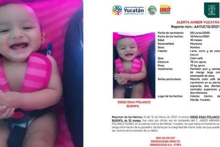 Desaparece un bebé de 10 meses en Mérida; se activa Alerta Amber