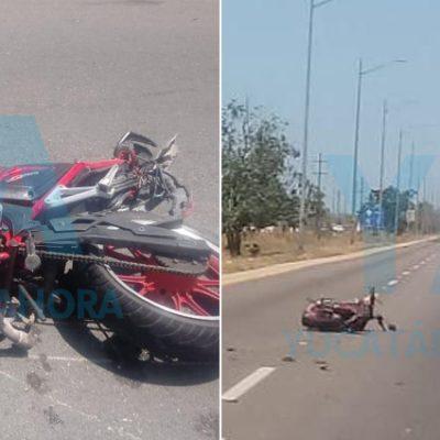Conductor atropella a motociclista y huye, pero lo detienen en Progreso