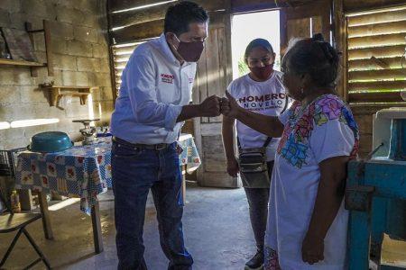 Candidato de Morena hace campaña en el 'centro del mundo'