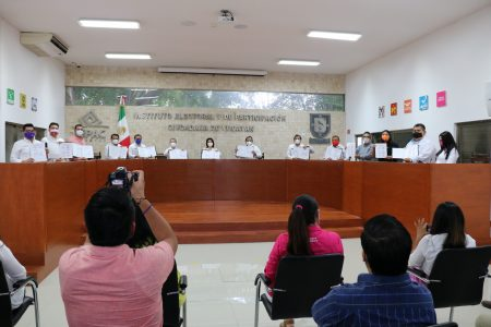 Partidos se comprometen a respetar los protocolos sanitarios durante la campaña electoral