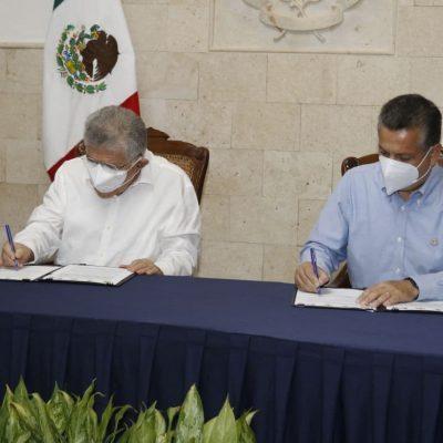 El alcalde Alejandro Ruz encabeza la firma de un convenio de colaboración con el Poder Judicial del Estado de Yucatán