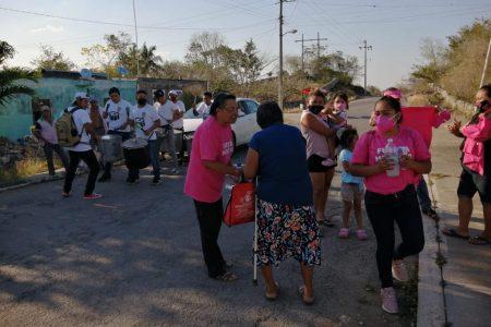 Candidatas de Fuerza por México se solidarizan con la gente de Hocabá