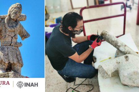 INAH restaura la escultura de El Monifato de Sisal