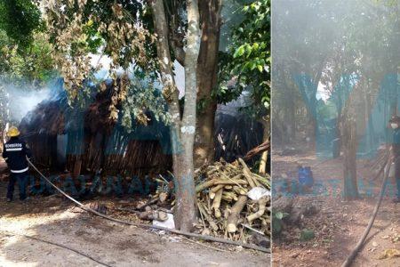Se incendia su casa al dejar encendida su leña cuando fue a comprar