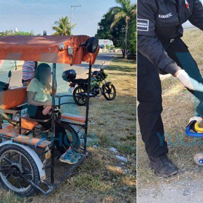 Mototaxi atropella a una mujer en Kanasín