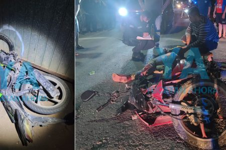 Choque de motos deja dos heridos en Oxkutzcab