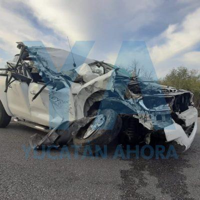 Impactante accidente en la carretera Mérida-Celestún