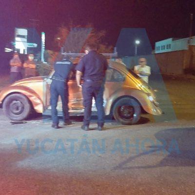 No vio un alto y chocó contra un VW en Juan Pablo II: dos lesionados