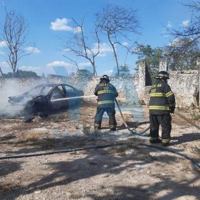 Incendio en el rancho 'El Juguete': se queman cuatro vehículos