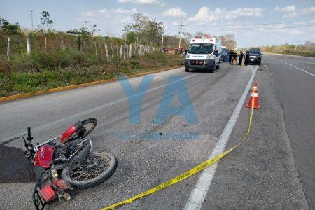 Tragedia en carretera: muere un motociclista tras chocar contra una camioneta