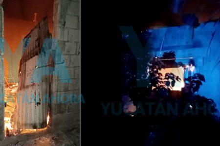 Se incendia de madrugada una casa abandonada en Plan de Ayala Sur