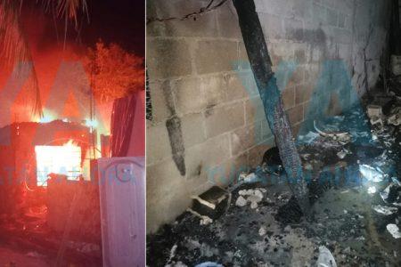 Pierde su taller de costura tras incendiarse por la madrugada