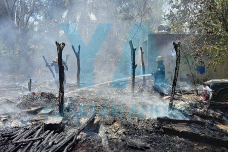 Se incendia su casa por vecinos que quemaban basura al lado