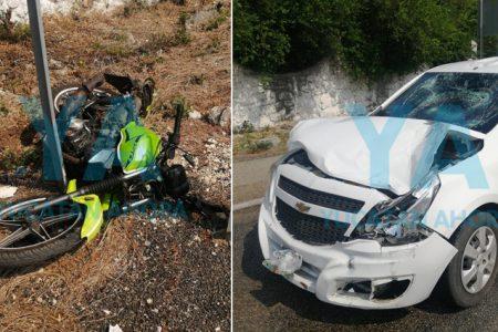 Motociclista pierde la vida al ser chocado por una camioneta en el tramo Chocholá-Poxilá