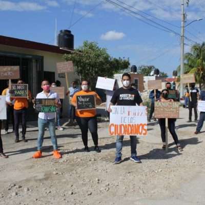 Bacheando calles, comienzan campañas federales de Movimiento Ciudadano en Yucatán