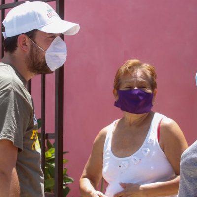 Mujeres del III Distrito piden empleo temporal a Pablo Gamboa