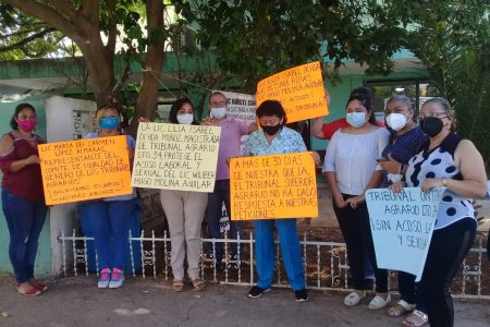 Activistas y defensoras apoyan a mujeres acosadas en el Tribunal Agrario