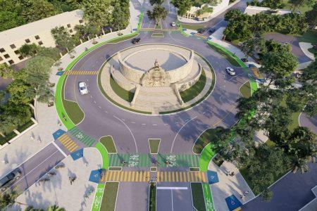 Obras de la ciclovía llegan a la glorieta del Monumento a la Patria