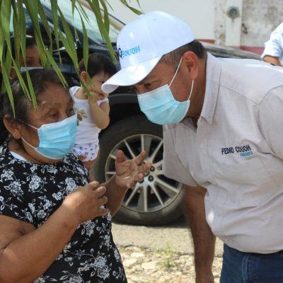 Pedro Couoh Suaste realiza una gira de campaña por 23 comisarías de Tizimín