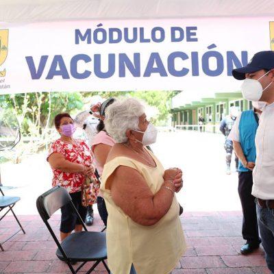 El intenso calor de Yucatán obliga a cambiar un procedimiento en la vacunación contra Covid-19