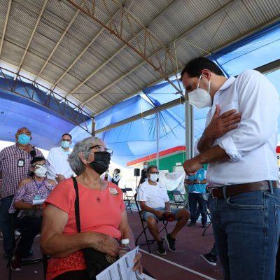 Ya vacunaron contra Covid-19 a más de 100 mil adultos mayores en Mérida