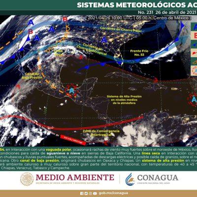 Continúa temperaturas altas en Yucatán