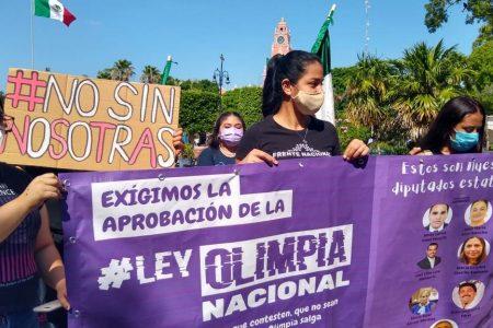 Mujeres se unen para exigir  la aprobación de la Ley Olimpia en la Cámara de Diputados