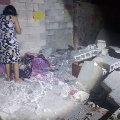 Madre e hija resultaron lesionadas tras caerles encima una pared