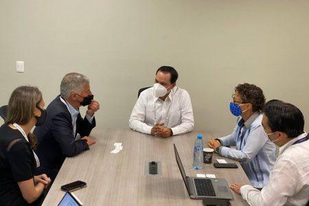 Promueve Mauricio Vila potencial de Yucatán ante directivos y ejecutivos de importantes empresas del ramo turístico