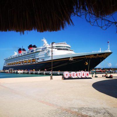 Ya está en Yucatán el crucero Disney Wonder