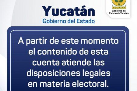 Suspenden difusión de programas, obras y acciones de gobierno y los ayuntamientos de Yucatán