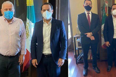 Mauricio Vila revisa con funcionarios federales avances de dos importantes proyectos para Yucatán