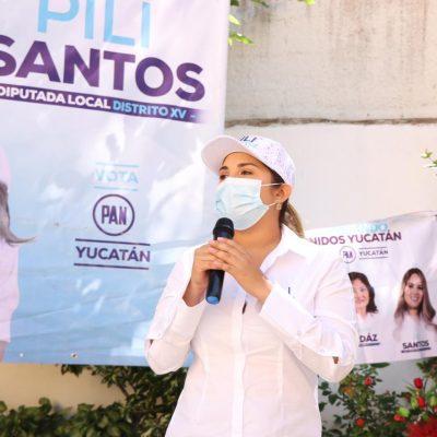 Pili Santos formará un gran equipo que atraiga inversiones públicas y privadas y más apoyos federales