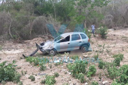 Conductor fallece al salir proyectado tras accidente en la Tetiz-Mérida