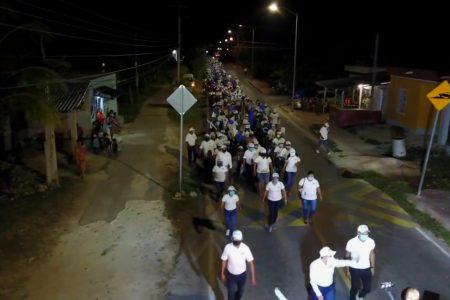 Magna caravana en apoyo a la candidata del PAN en Chichimilá