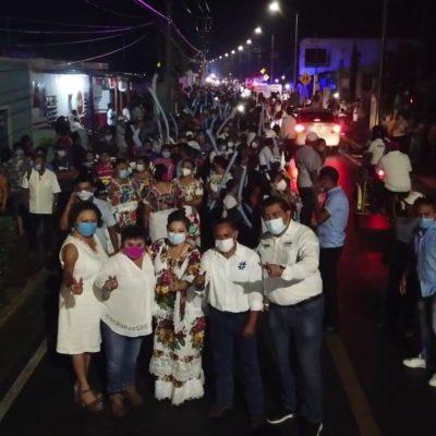 Con amplio respaldo popular, Karina Pacheco cierra su campaña en Chichimilá