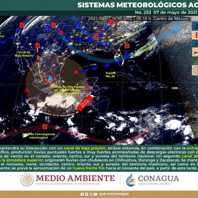 Conagua pronostica lluvias fuertes en el sur y oriente de Yucatán