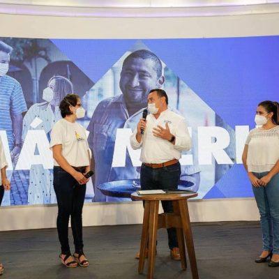 Vamos a seguir mejorando las condiciones de vida de las y los niños de Mérida: Renán Barrera