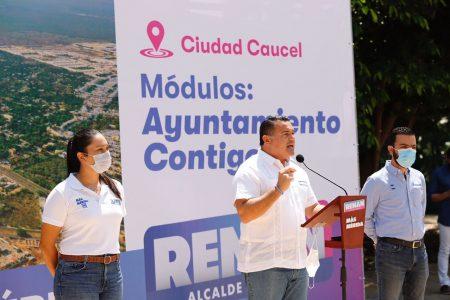 Renán Barrera ofrece trámites y servicios del Ayuntamiento más cerca de todas y todos