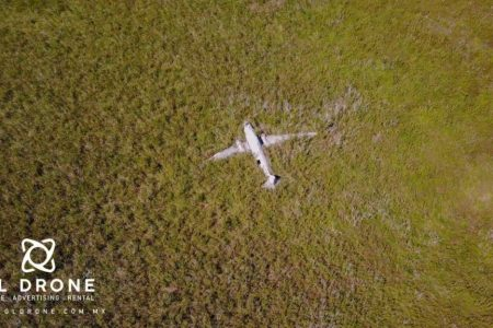 Grupo Ecoaventura llegará hasta el avión que cayó en Celestún