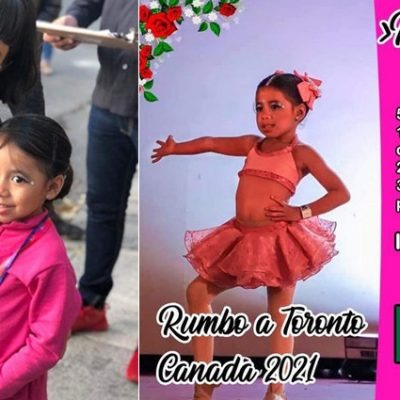 Niña yucateca representará a México en concurso de baile en Canadá, pide apoyo para viajar