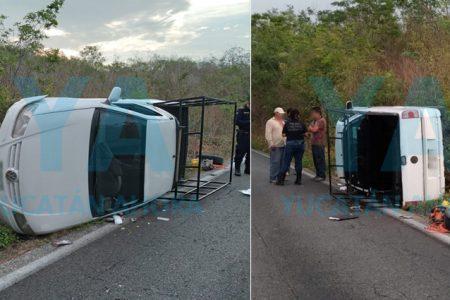 Vuelcan por esquivar una ambulancia en el tramo Holca-Libre Unión