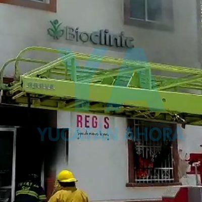 Se incendia un spa en el centro de Mérida