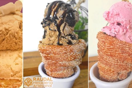 Conoce el delicioso churro con helado de Raudal Heladería
