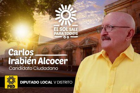Carlos Irabién, candidato ciudadano del PRD por el V Distrito