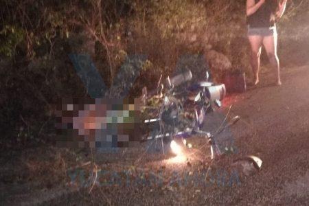 Trágica muerte de un obrero: derrapa en su moto