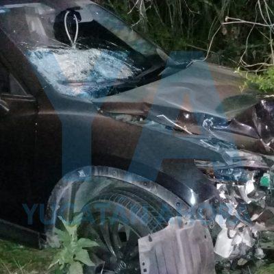 Por invasión de carril choca de frente contra una motocicleta: un joven fallecido