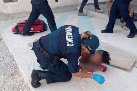 Menor albañil cae desde un techo en Real Montejo