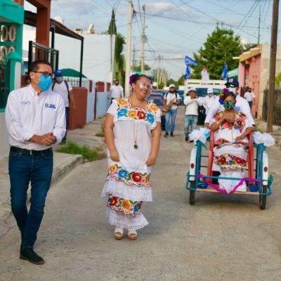 """Jaranas y """"bombas"""" le ponen sabor a la campaña de Víctor Hugo Lozano"""