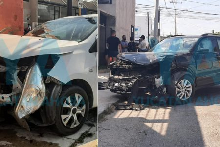 Semaforazo deja dos vehículos destrozados en Circuito Colonias